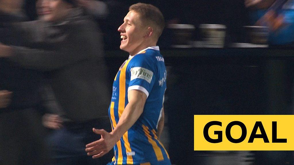 FA Cup: Greg Docherty doubles Shrewsbury lead against Salford City
