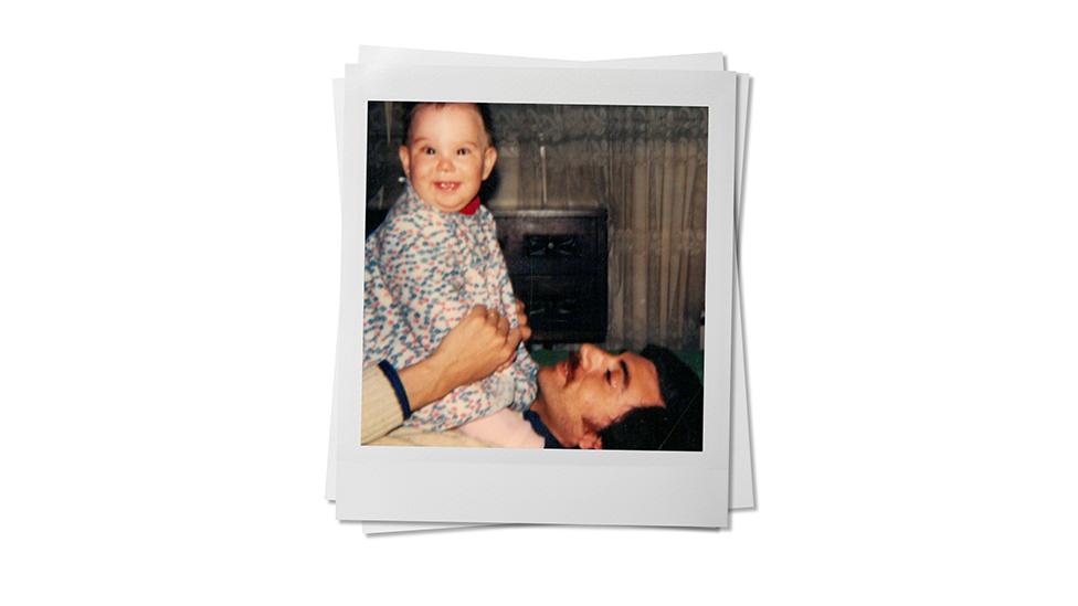 Paula and her father. Photo courtesy Paula L.