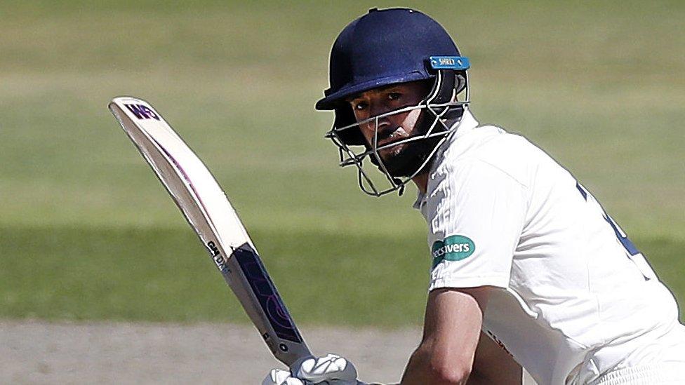 County Championship: England's James Vince hits ton for Hampshire v Lancashire