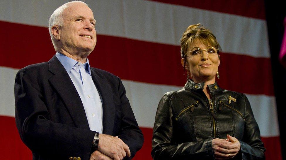 Sarah Palin y John McCain.