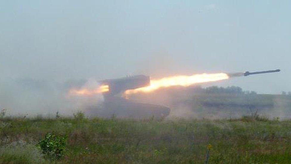 TOS-1 Buratino multiple rocket launcher