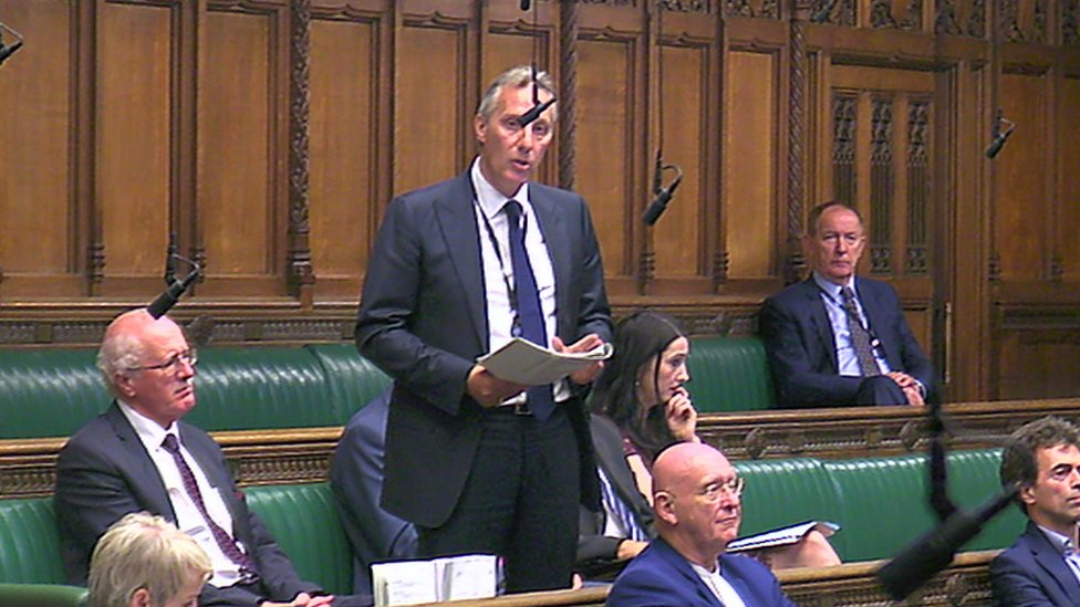 Ian Paisley in the House Commons