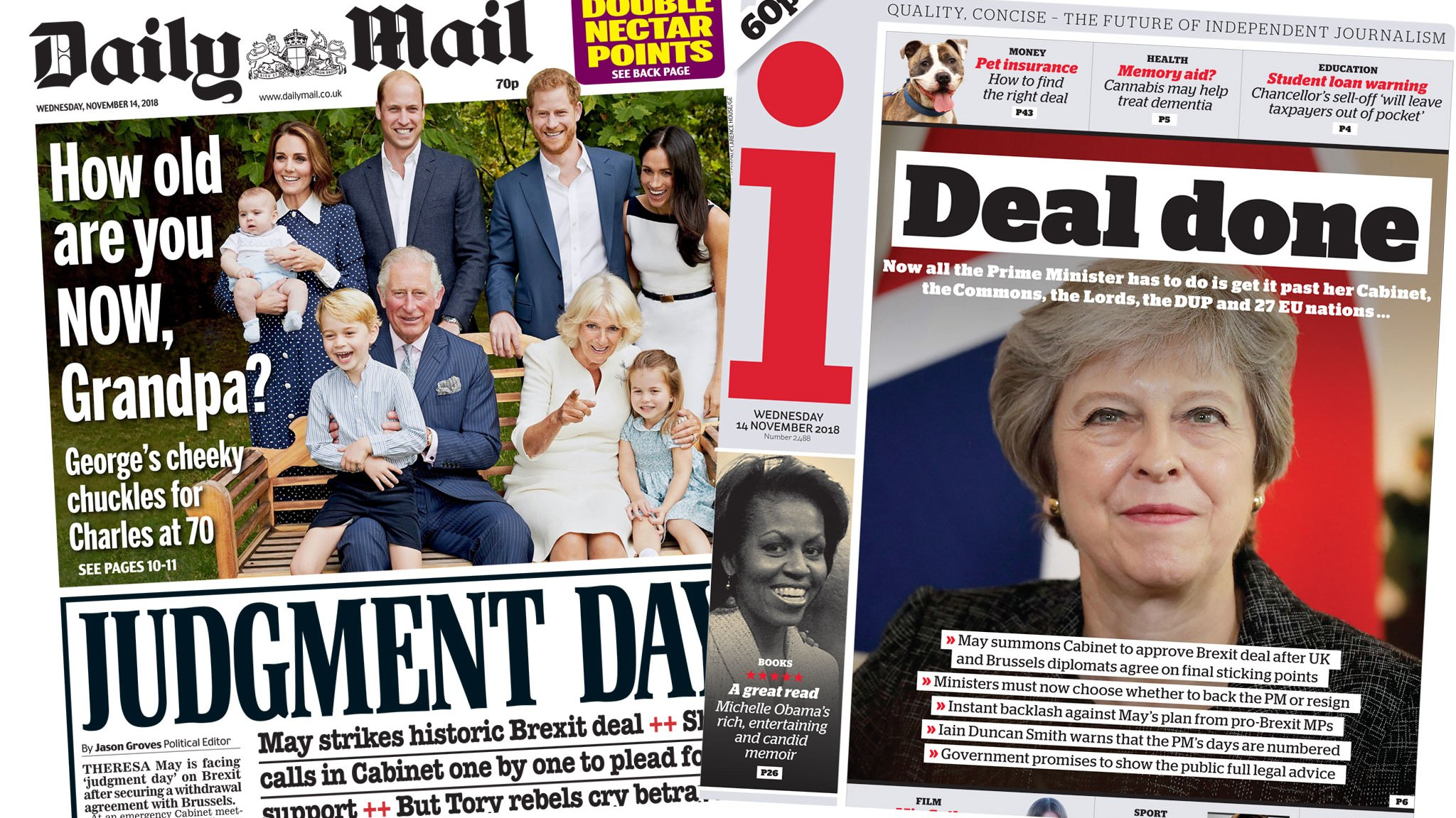 The Papers: 'Moment of truth' for Brexit deal