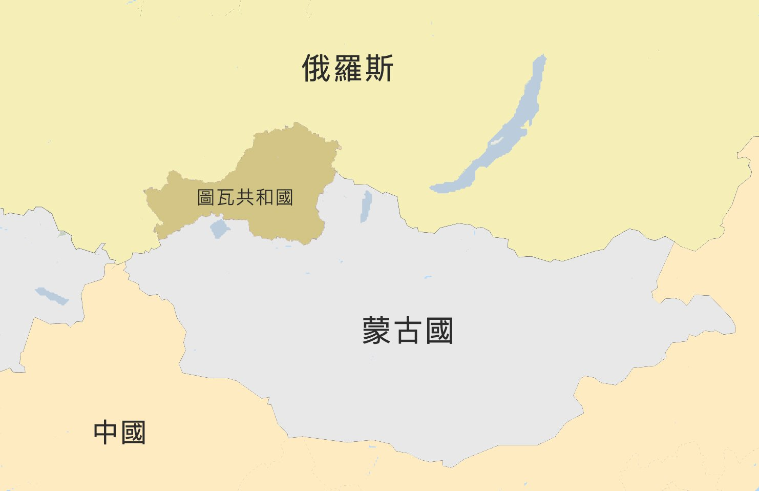 圖瓦共和國地圖