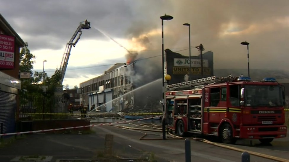 Fire breaks out at Aston factory unit