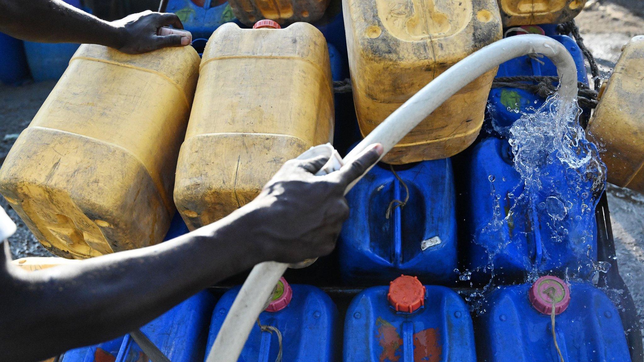 Water tubs in Nairobi