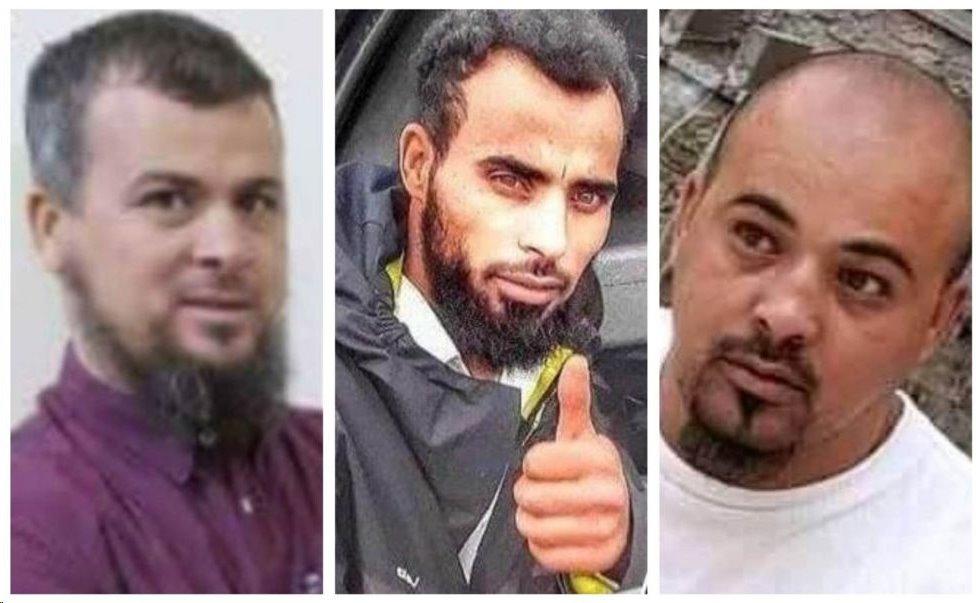 السلفي محمد الكاني (يسار) والقاتلان الأساسيان محسن وعبد الرحيم