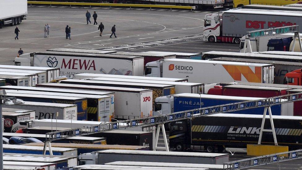 Lorries in Dover