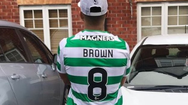 Aberdeen's Shay Logan forced to dress as Celtic's Scott Brown