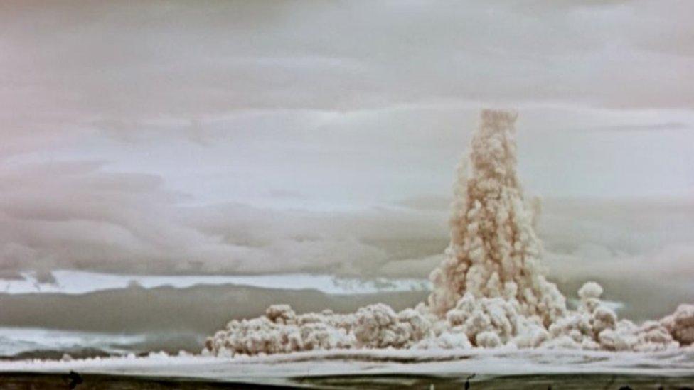 Una nube de hongo de la bomba Zar