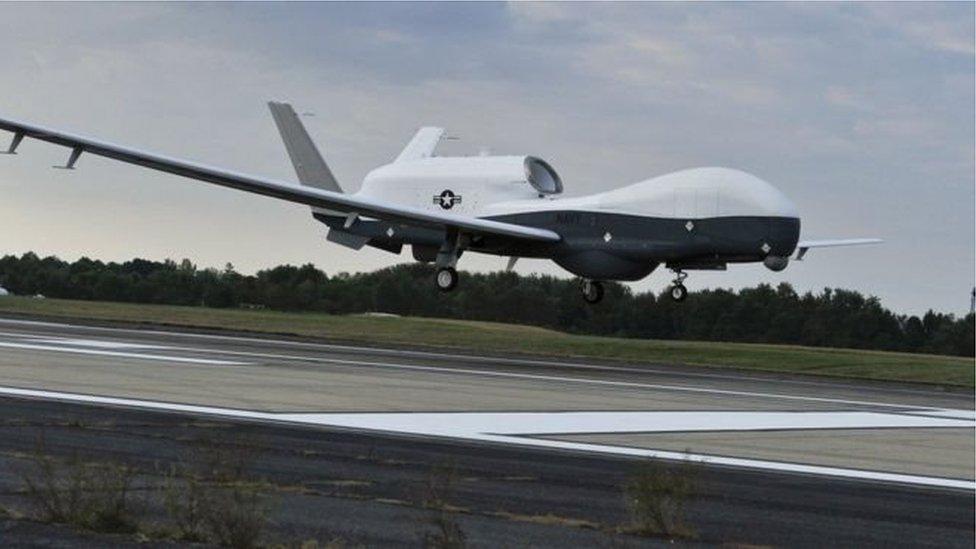 ईरान ने अमरीका के सैन्य ड्रोन को मार गिराया