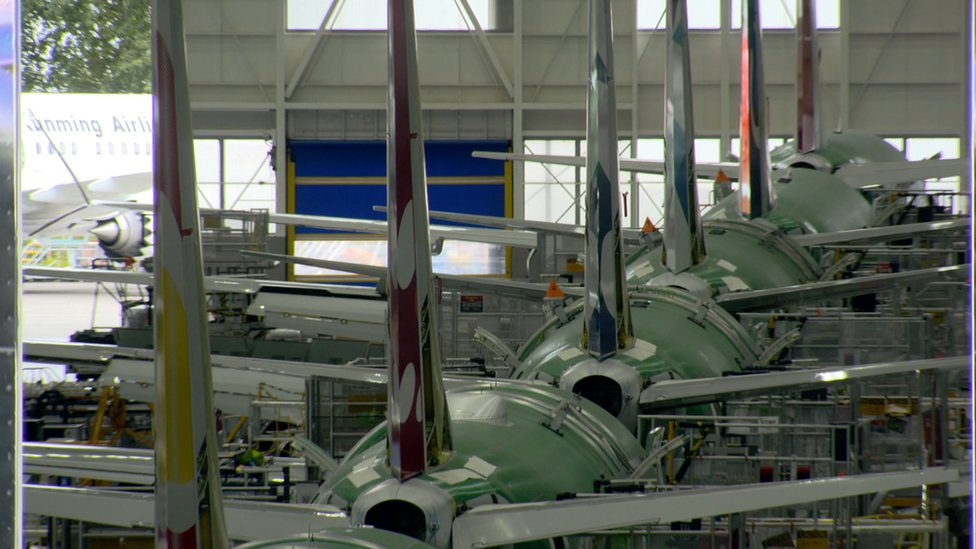 Boeing production line