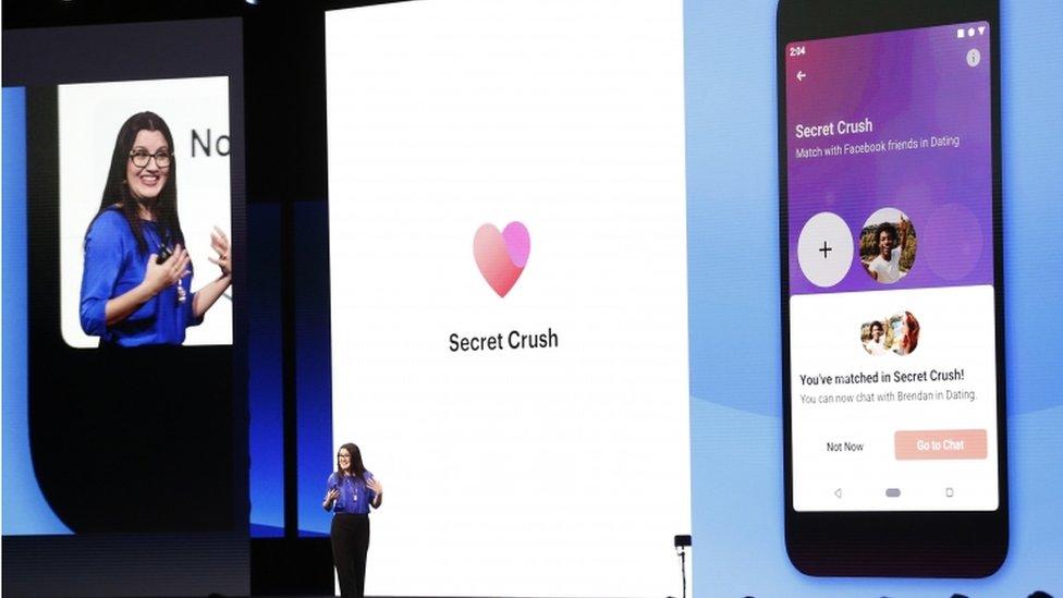 Secret Crush de Facebook.