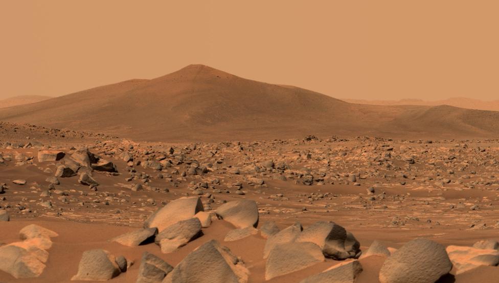 Colina de Santa Cruz, en Marte.