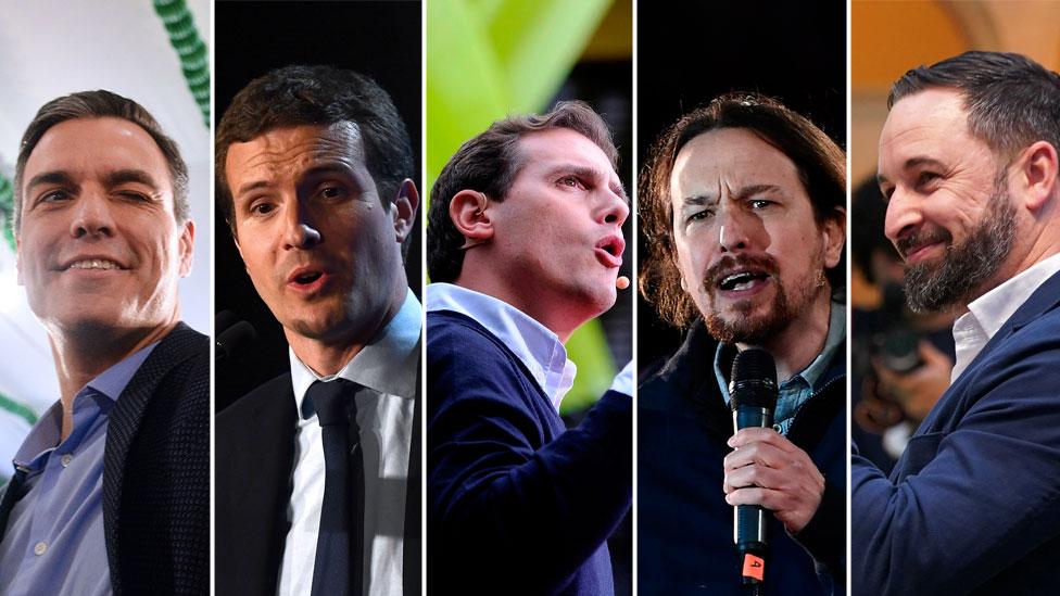 Los 5 principales candidatos a las elecciones.