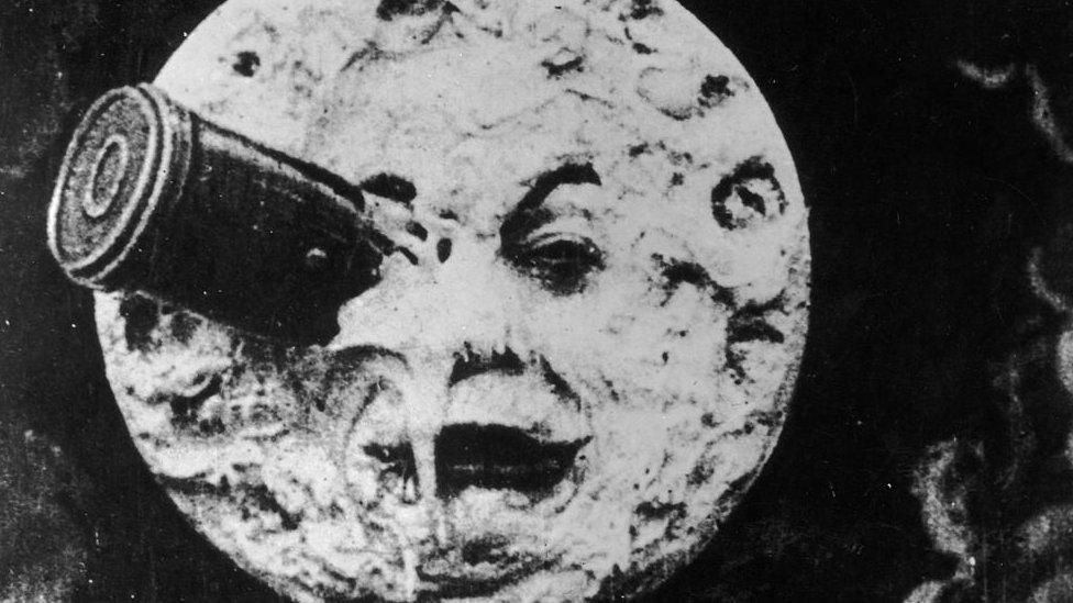 """""""Viaje a la Luna"""", de Georges Melies, 1902."""