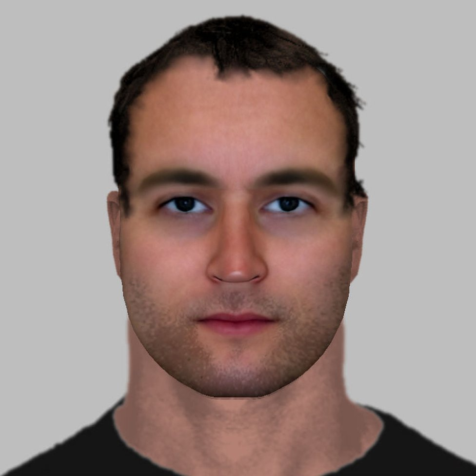 An artist's impression of an alleged perpetrator