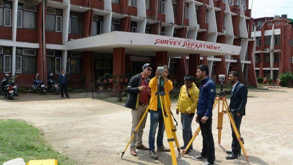 尼泊爾的珠峰測繪
