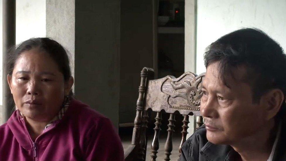 Hoang Thi Ai y Nguyen Thanh Le, padres de Hoang Van Tiep.