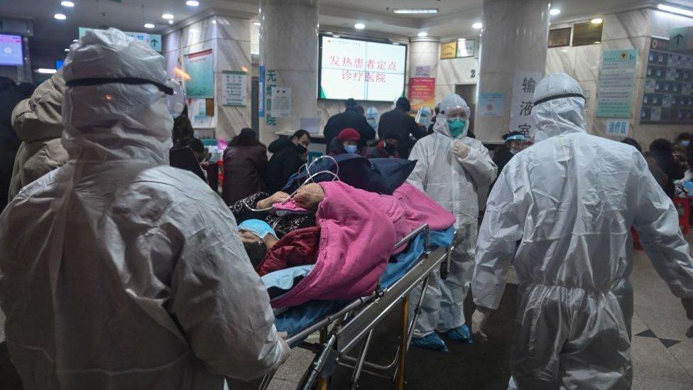 Paciente de Covid en un hospital de China