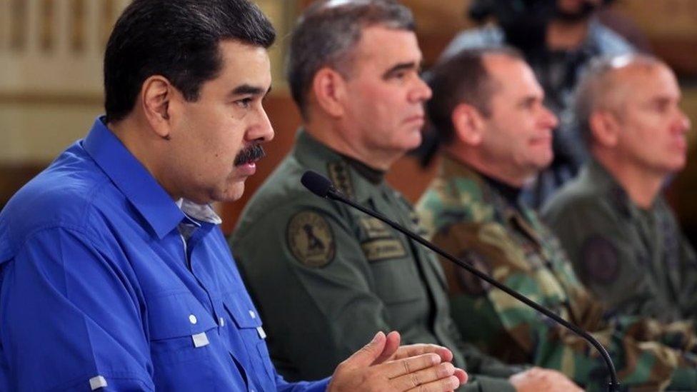 Maduro sa visokim vojnim zvaničnicima, 2019.