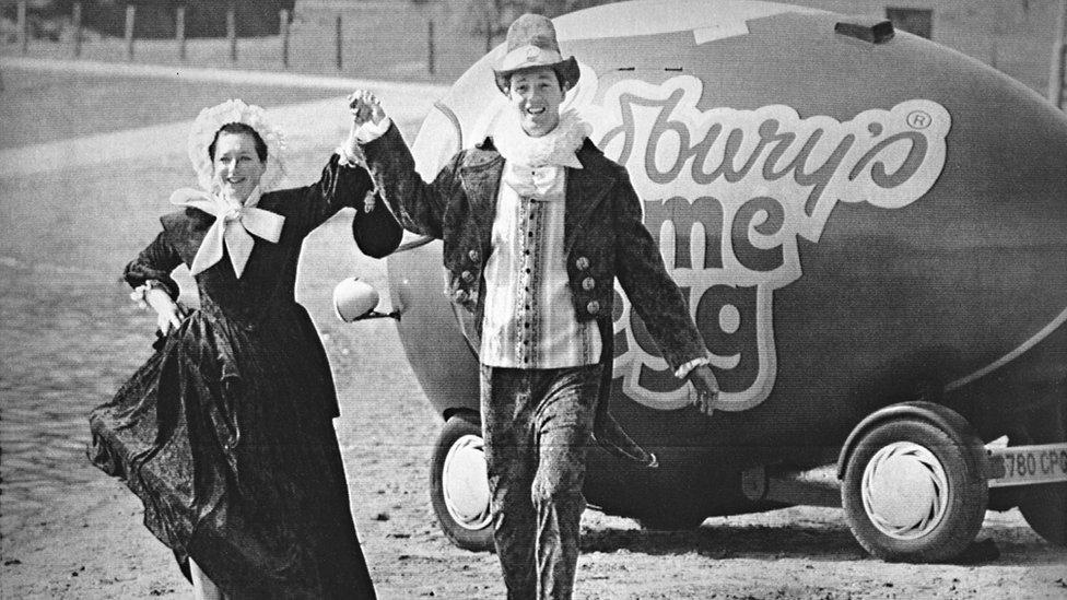 Photograph shows Maria Cadbury, alias Francis Land, and Steve Johnstone