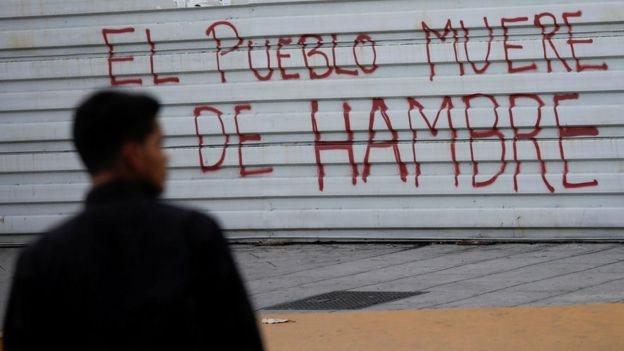 Cartel en Caracas de