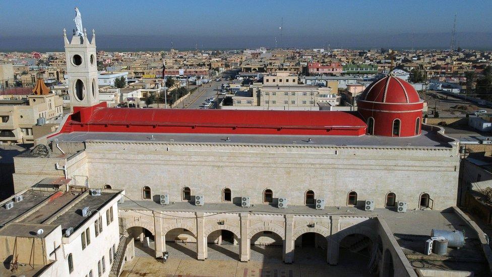 paus, irak, paus fransiskus, gereja Imakulata