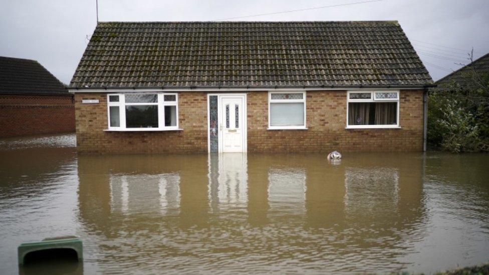 Flooded home in Fishlake