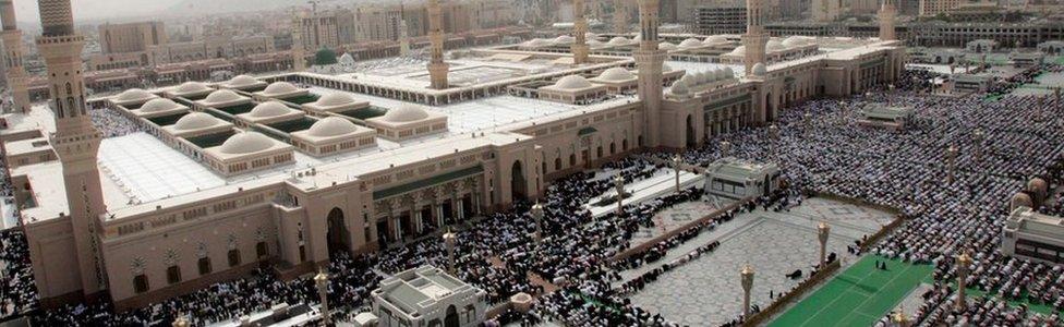 Prophet Muhammad mosque in Medina, Saudi Arabia