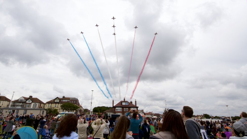 Sunday's Red Arrows display
