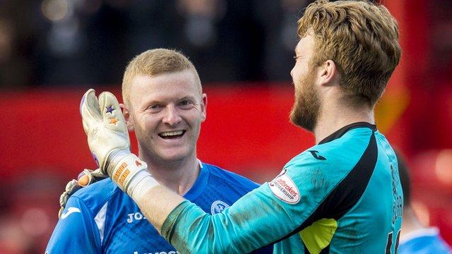 St Johnstone's Brian Easton scored a beauty of a goal against Aberdeen