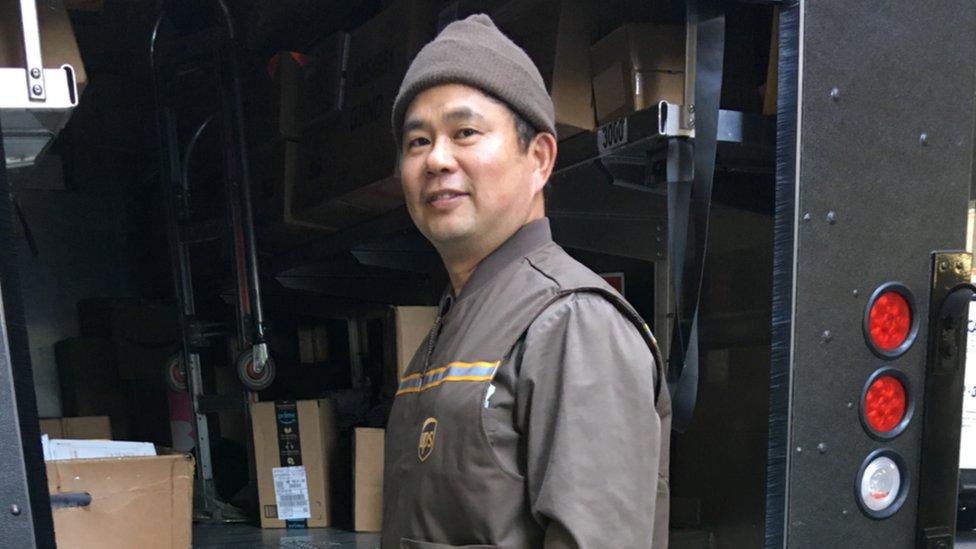 "Veteran UPS driver Thomas ""Tommy"" Chu"