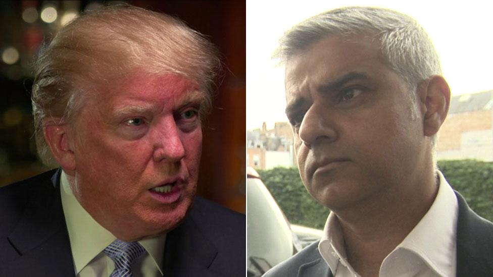 Donald Trump and Sadiq Khan