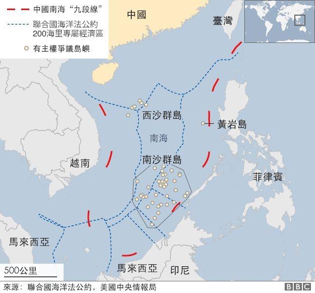 中國的南海九段線
