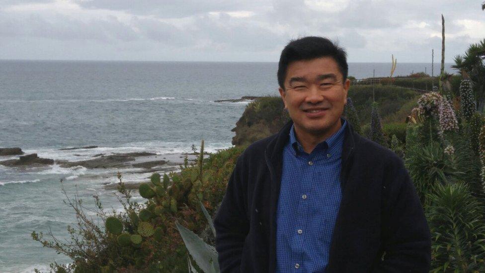 توني كيم، أحد المعتقلين في صورة له بكاليفورنيا