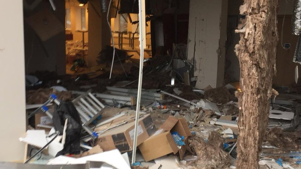 Digger driver wrecks Liverpool Travelodge reception