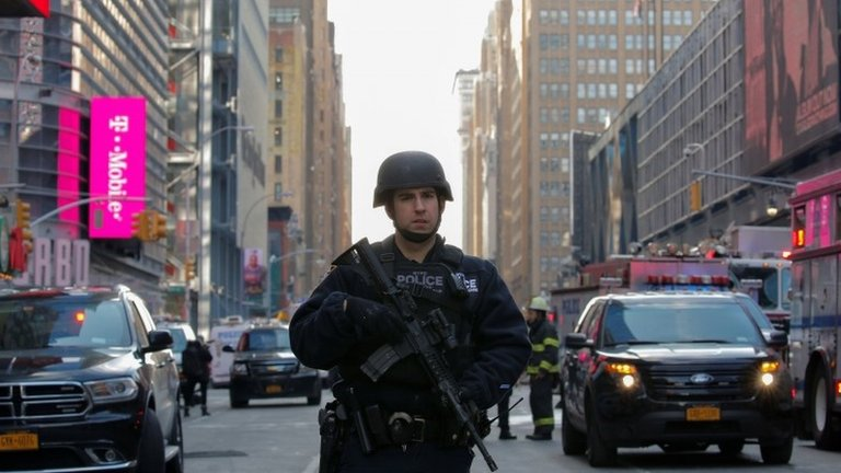 New York Port Authority attack: Man held after Manhattan blast