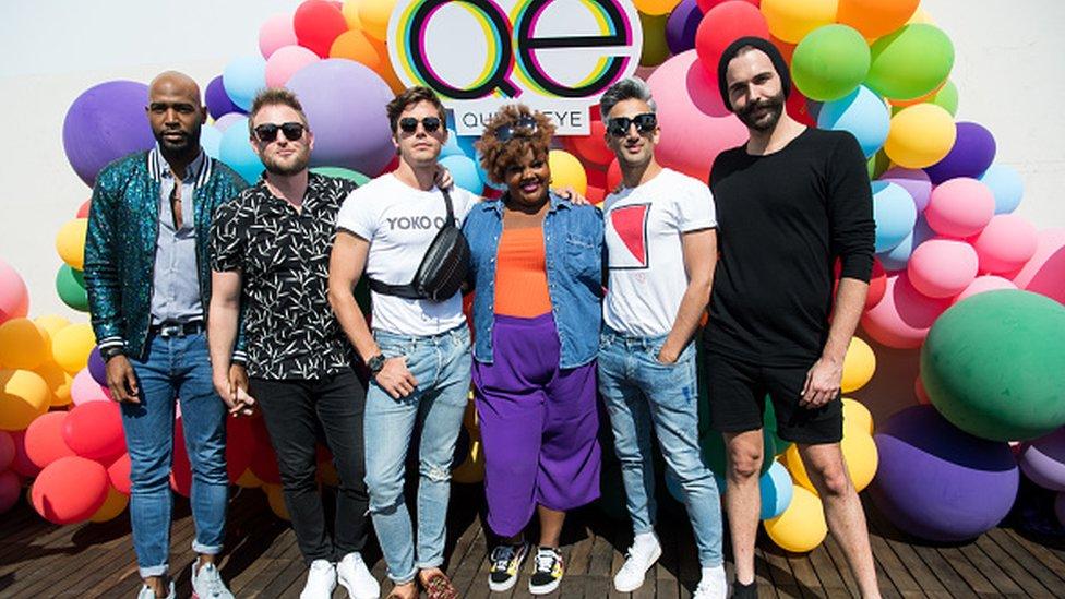 El elenco de la serie Queer Eye, que se puede ver en Netflix