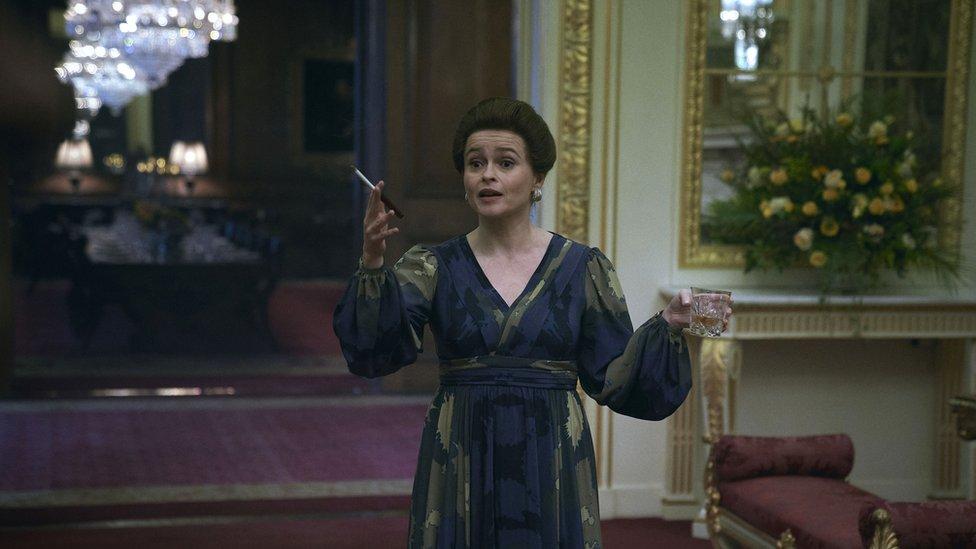 Helena Bonham Carter en The Crown