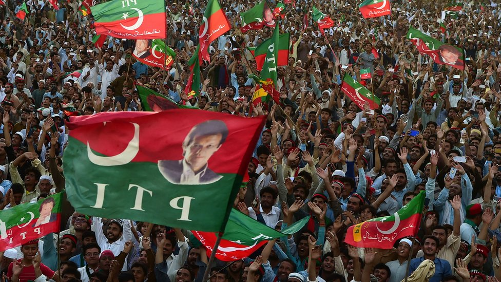 Rally for PTI party chief Imran Khan in Khyber Pakhtunkhwa on 5 July