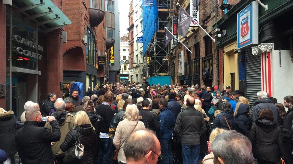 Crowds on Matthew Street