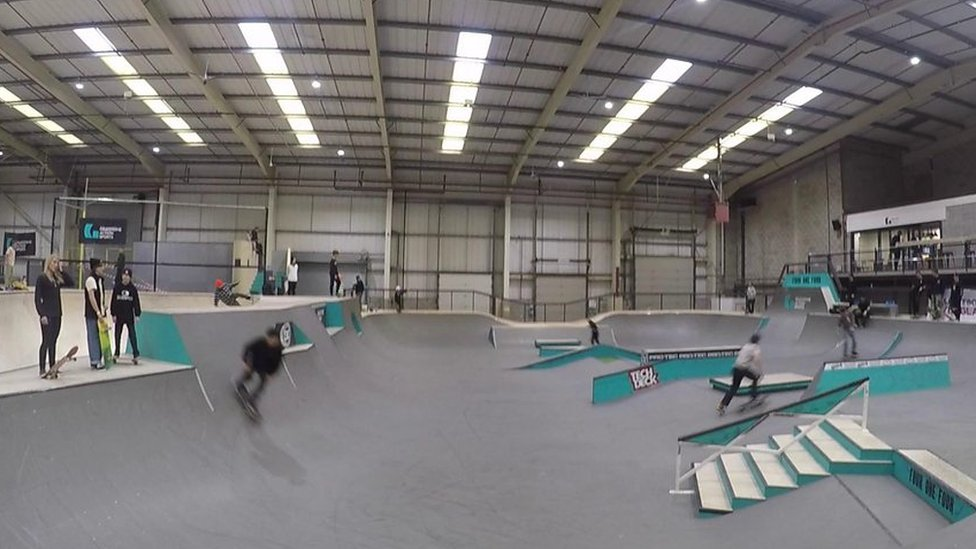Olympic hopefuls are taking part in the first official skateboarding competition