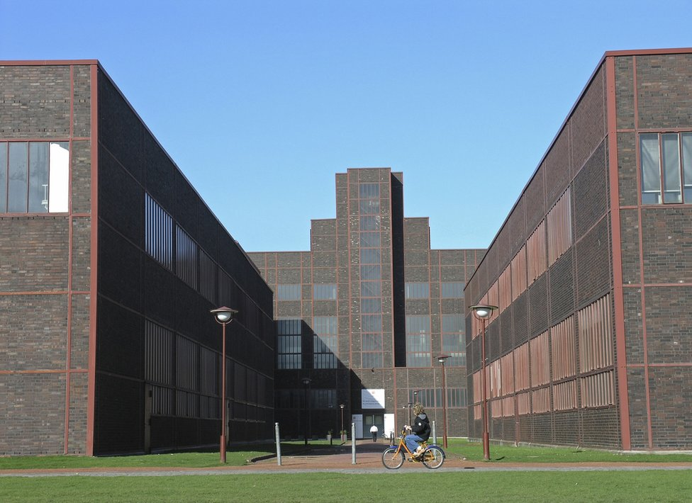 Exterior of the Zollverein XII Coal Mine Industrial Complex