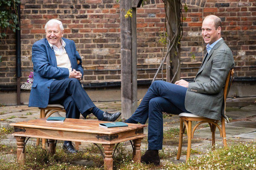 Príncipe William y David Attenborough