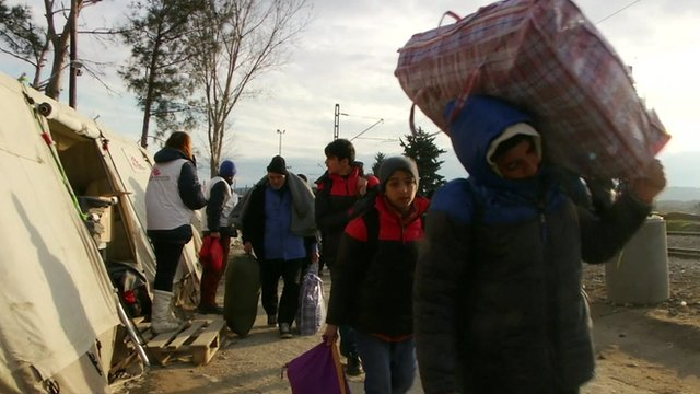 Refugees attempt to make the journey into Macedonia