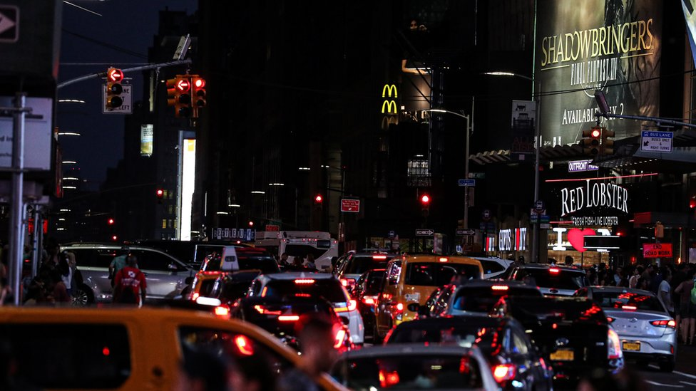 Traffic lights are out near Times Square area