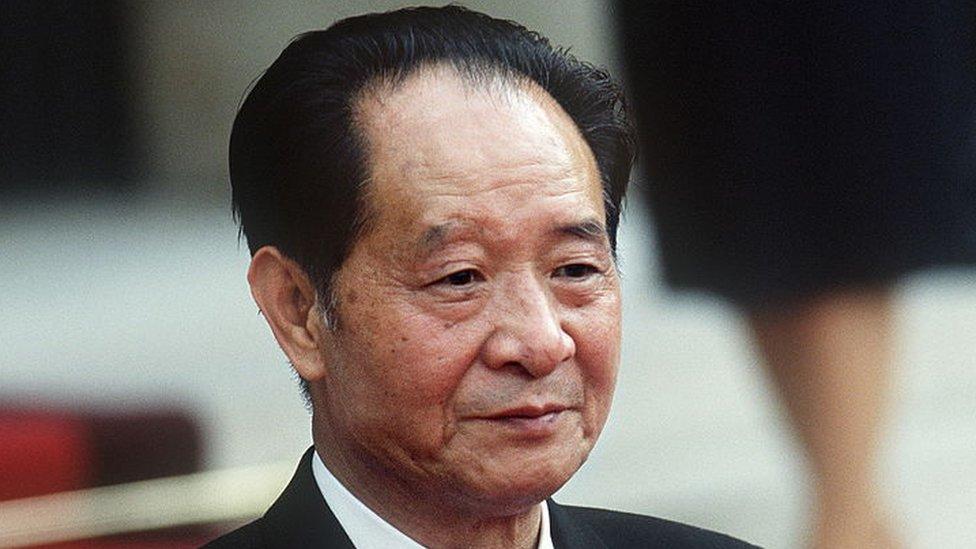 Hu Yaobang en 1986