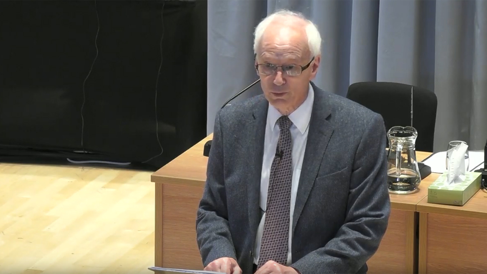 Sir Brian Langstaff opened the hearing in Cardiff on Tuesday