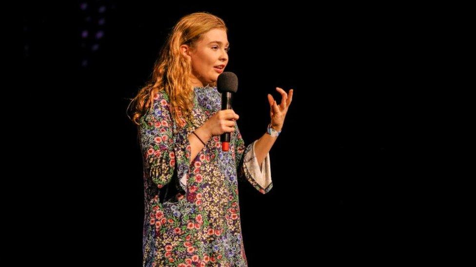 Sarah Collins performing at Storytelling Live
